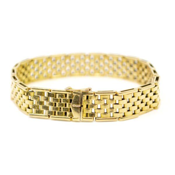 Vintage Brick Link Gold Bracelet BB2