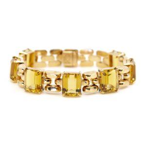 Vintage Citrine and Gold Bracelet