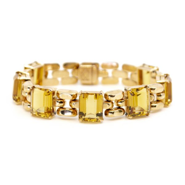 Vintage Citrine and Gold Bracelet
