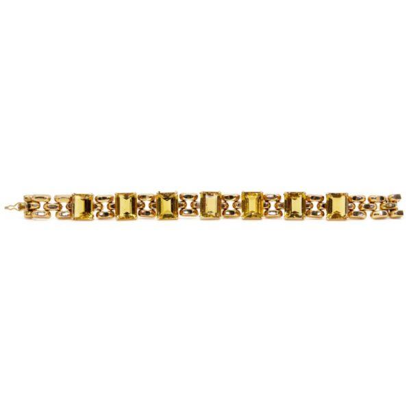 Vintage Citrine and Gold Bracelet BB4