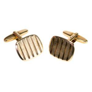 Vintage Cushion Shape Gold Cufflinks BB1