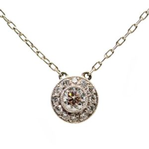 Vintage Diamond and Platinum Necklace BB1