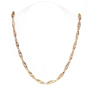 Vintage Fancy Link Gold Chain Necklace BB1
