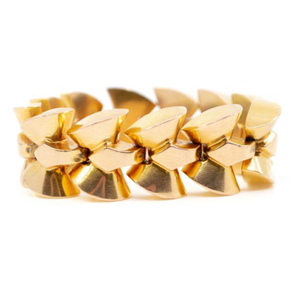 Vintage Gold Bracelet, French 1940