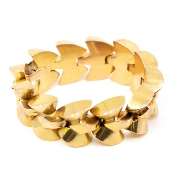 Vintage Gold Bracelet, French 1940 BB2
