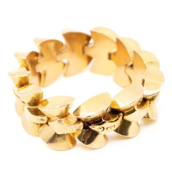 Vintage Gold Bracelet, French 1940 BB3