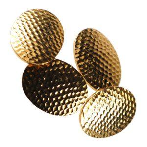 Vintage Hammered Effect Gold Cufflinks BB1