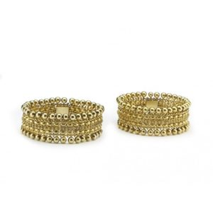 A PAIR OF VICTORIAN GOLD BRACELETS