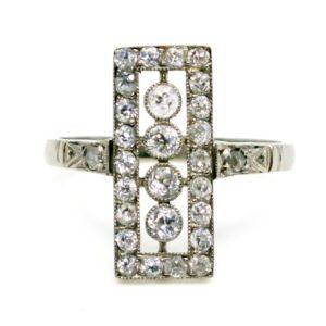 Antique Edwardian Diamond and Platinum Ring