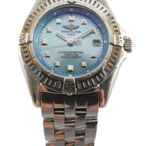 Ladies Breitling Blue Mother of Pearl Callistino Wristwatch