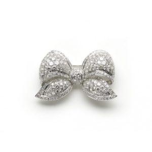 DIAMOND BOW BROOCH, 22 carats