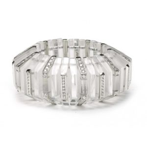 DIAMOND & ROCK CRYSTAL BANGLE