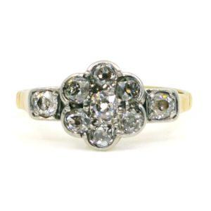 Edwardian Old Mine Cut Diamond Gold Ring