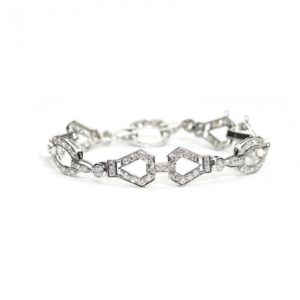 FRENCH ART DECO DIAMOND AND PLATINUM BRACELET, CIRCA 1930