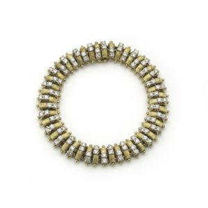HAMMERMAN BROTHERS GOLD AND DIAMOND BRACELET