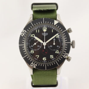 Vintage Gents Heuer Bundeswehr Chronograph Wristwatch