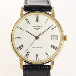 Vintage Longines Automatic Date Gold Plated Wristwatch