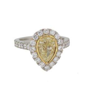 Fancy yellow diamond engagement ring