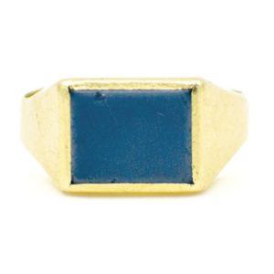 Vintage Agate Gold Signet Ring