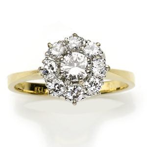 Diamond Cluster Ring in 18ct Gold