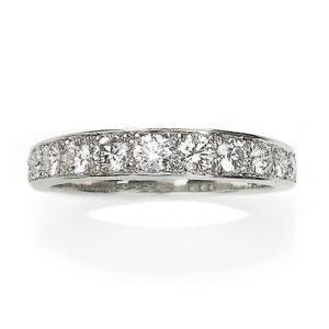 Tapered Diamond Ring, 18ct White Gold
