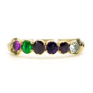 Antique Acrostic 'Regard' Gemstone Ring