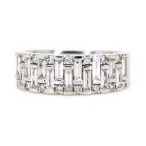 Diamond Half Eternity Band Ring, 1 Carat