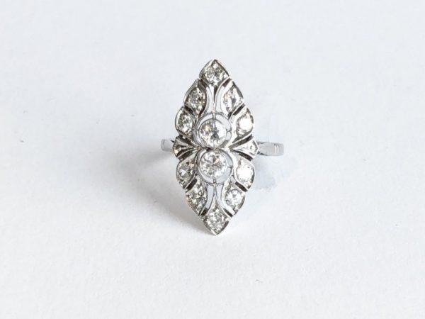 Antique Art Deco Diamond Navette Shape Ring