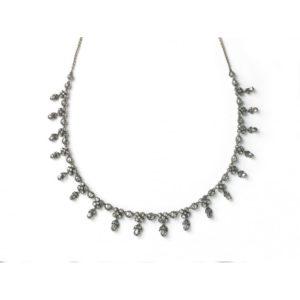 Antique Georgian Rose Cut Diamond Necklace