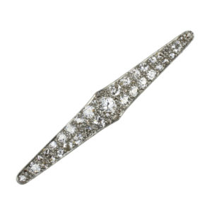 Antique Art Deco Diamond Set Plaque Brooch, Platinum and 18ct Gold