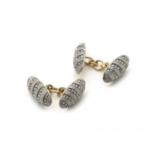 Fabergé Diamond & Enamel Cufflinks, Circa 1899