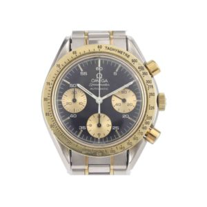 Gents Omega Speedmaster Steel and Gold Automatic Chronograph Wristwatch