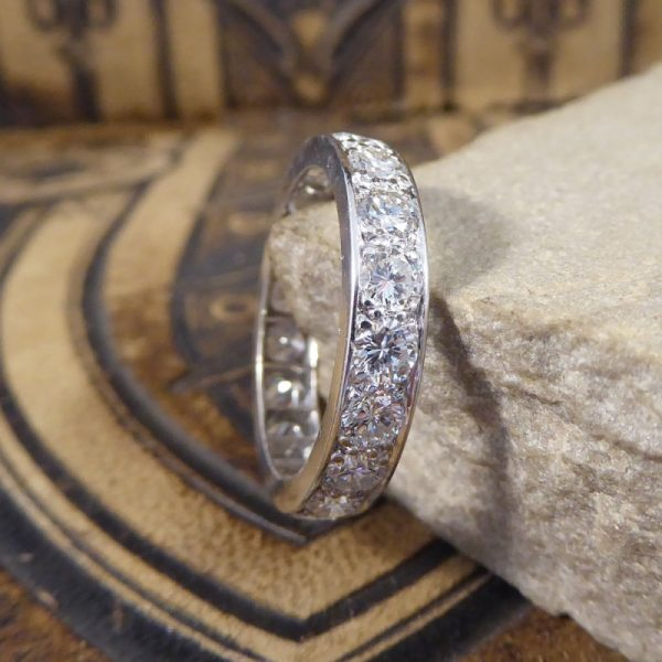 Antique Art Deco 2.40ct Diamond Eternity Ring, Platinum