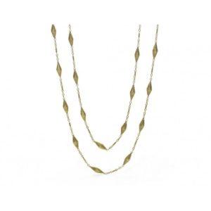 Vintage Long Fancy Link Gold Chain