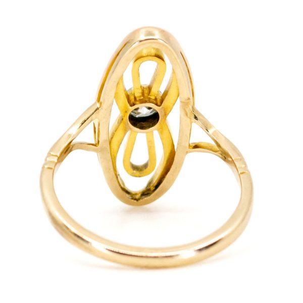 Antique Art Nouveau Old Mine Cut Diamond Ring