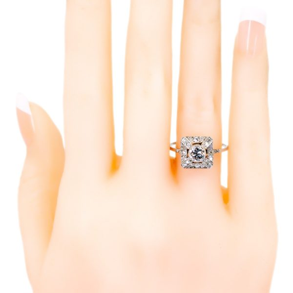 Antique Edwardian Old Cut Diamond Cluster Ring