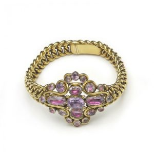 Antique Georgian Pink Topaz Gold Bracelet