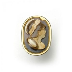 Antique Victorian Carved Hardstone Cameo Ring