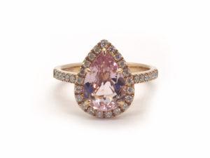 Morganite and Diamond Dress Ring in 18ct Rose Gold