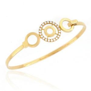 18ct Yellow Gold Diamond Set Bangle