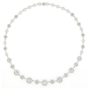 Fine 8.94ct Diamond Set Necklace, 18ct White Gold