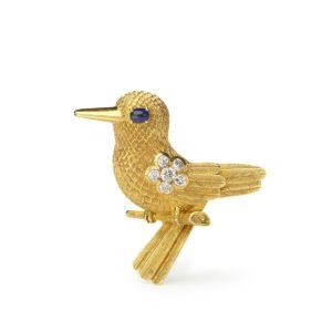 Vintage Cartier Gold Bird Brooch
