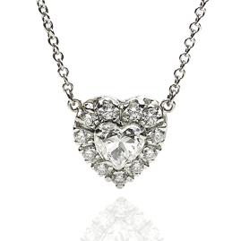 1.13ct Diamond Set Heart Pendant in 18ct White Gold