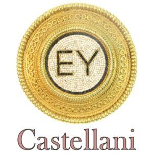 Antique Victorian Castellani Micro Mosaic 18ct Gold Brooch