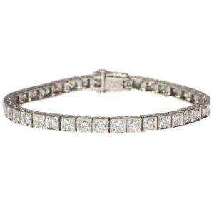 Vintage Platinum Diamond Tennis Bracelet