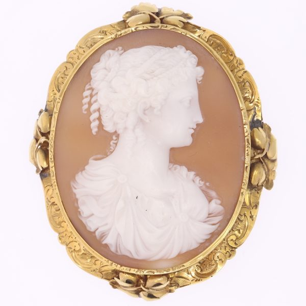 Antique Shell cameos Brooches