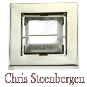 Vintage Chris Steenbergen Rock Crystal Set Silver Brooch
