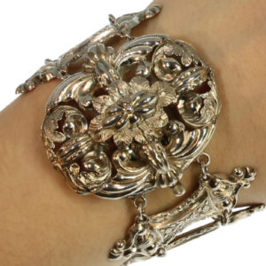 Antique Early Victorian French Silver Bracelet