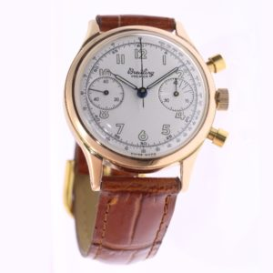 Vintage Gold Breitling Mens Watch, 1945 Fully Refurbished by Breitling Switzerland