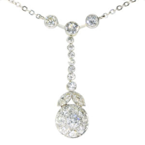Antique Art Deco French Brilliant Cut Diamond Pendant